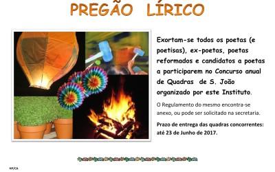 Anúncio Concurso Quadras S. João – 2017
